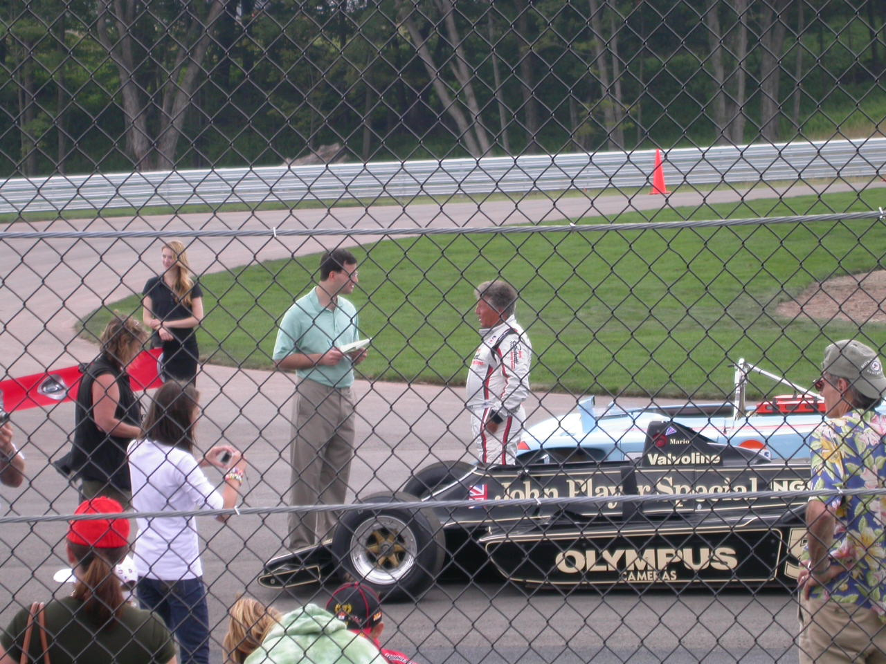 Mario Andretti and Lotus F1 at Monticello NY